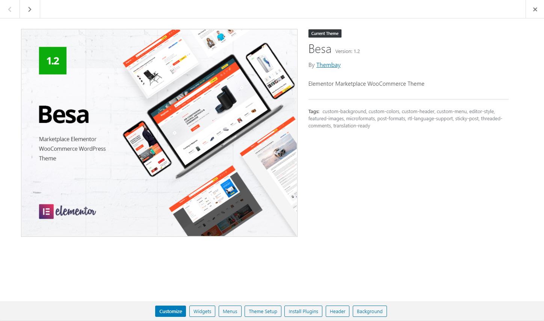 Documentation   Besa - Elementor Marketplace WooCommerce Theme